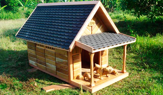 casetas para perros de madera de calidad