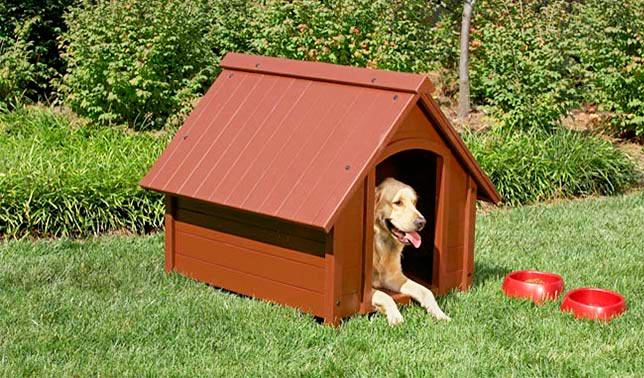 casetas para perros de madera