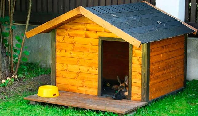casetas para perro de madera